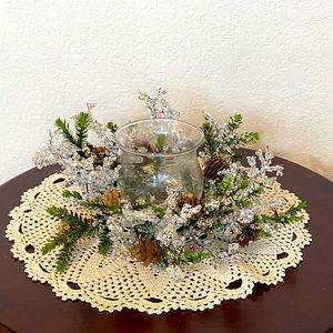 Pine Cone Branch Candle Center Piece